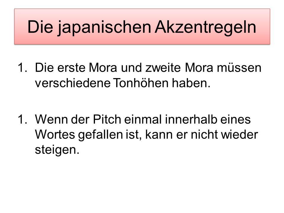Die japanischen Akzentregeln