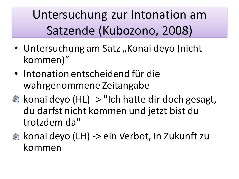 Untersuchung zur Intonation am Satzende (Kubozono, 2008)