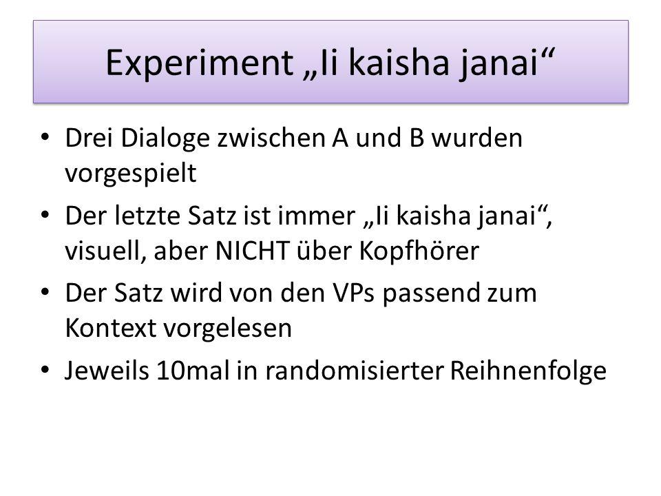 "Experiment ""Ii kaisha janai"