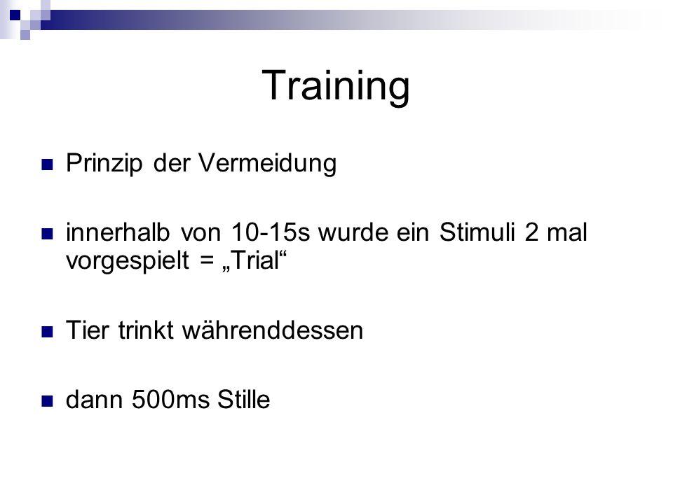 Training Prinzip der Vermeidung