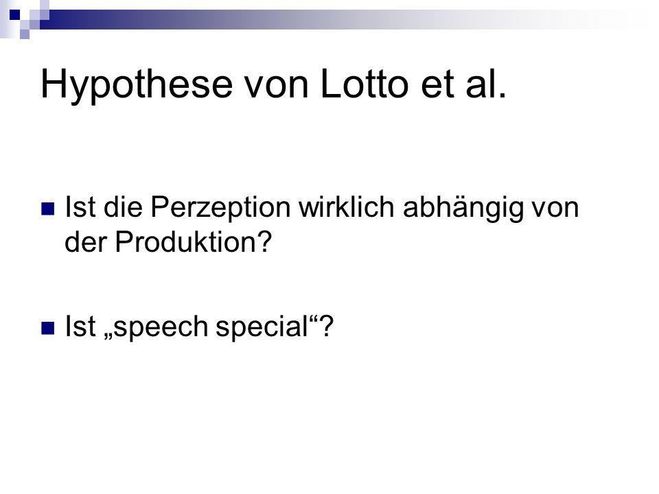 Hypothese von Lotto et al.