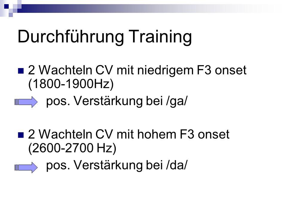 Durchführung Training