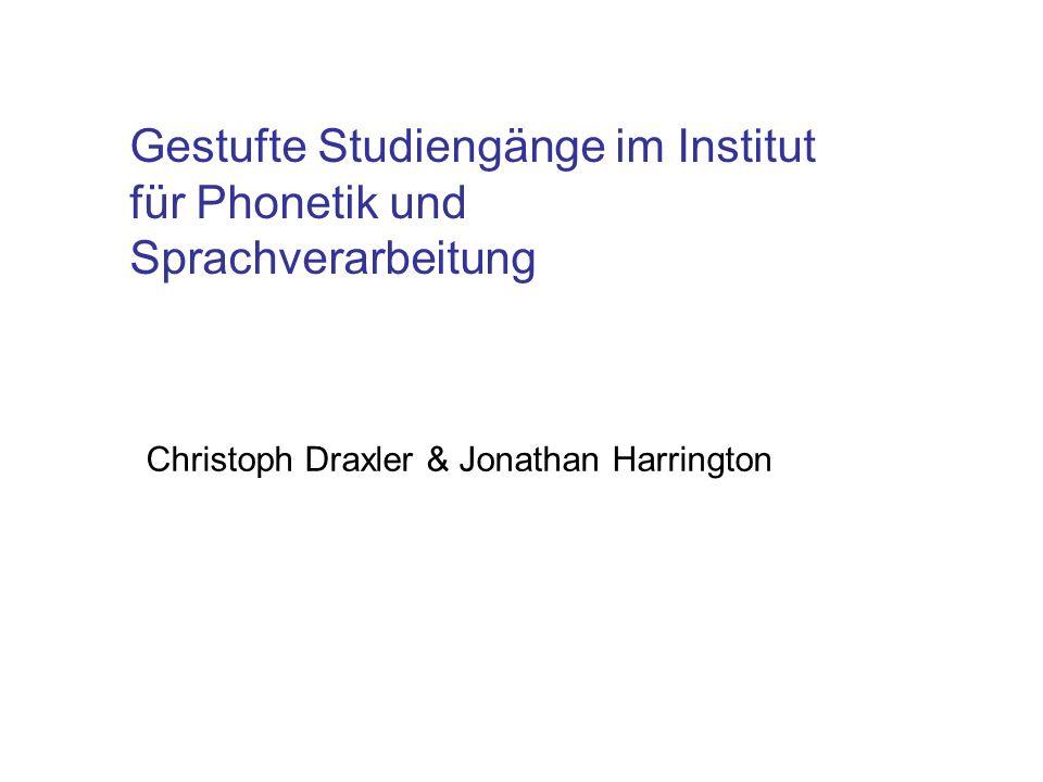 Gestufte Studiengänge im Institut für Phonetik und Sprachverarbeitung