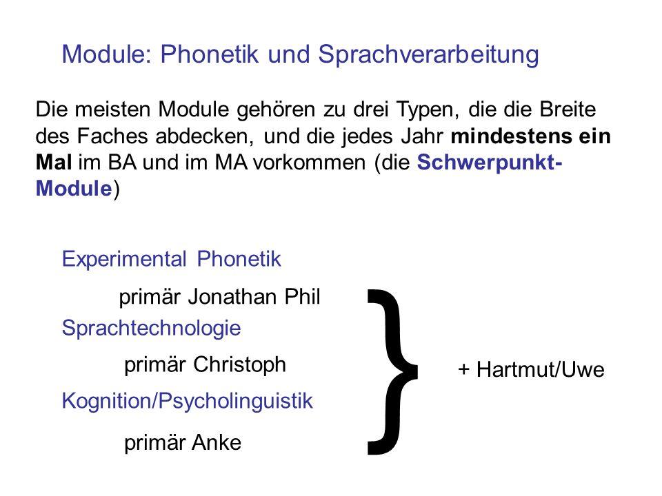 } Module: Phonetik und Sprachverarbeitung