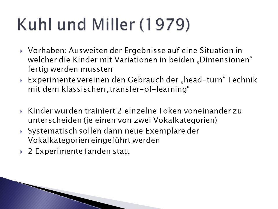 Kuhl und Miller (1979)