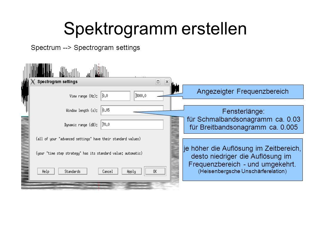 Spektrogramm erstellen