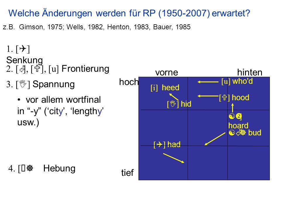 Welche Änderungen werden für RP (1950-2007) erwartet