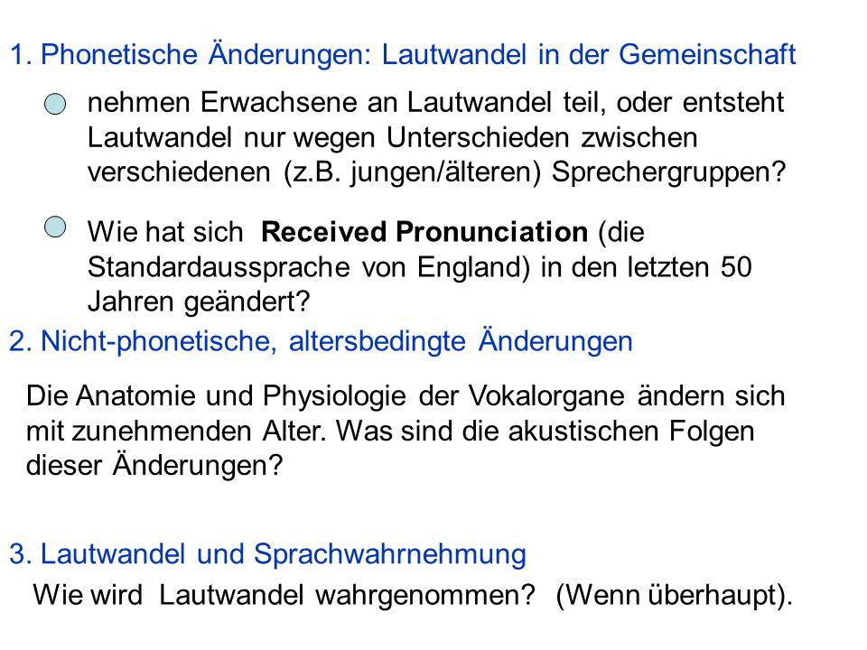 1. Phonetische Änderungen: Lautwandel in der Gemeinschaft