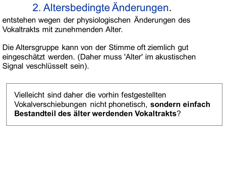 2. Altersbedingte Änderungen.