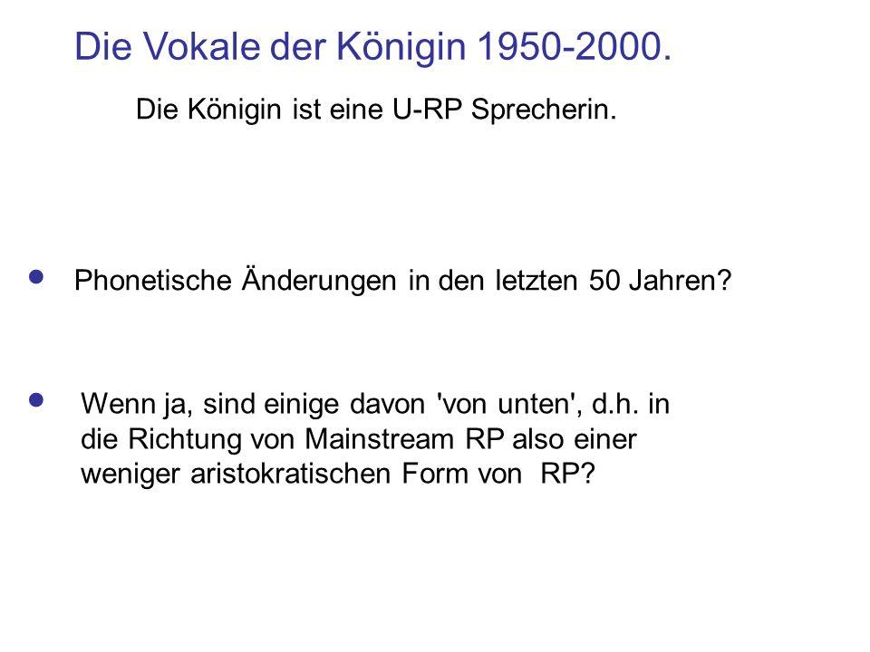Die Vokale der Königin 1950-2000.