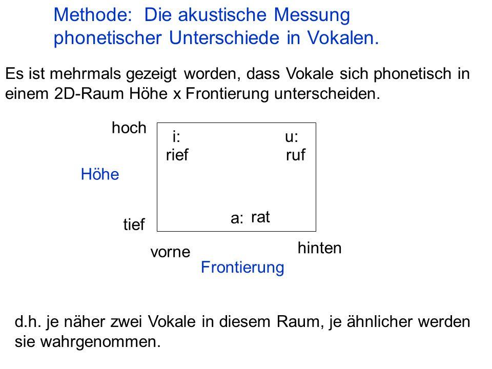 Methode: Die akustische Messung phonetischer Unterschiede in Vokalen.