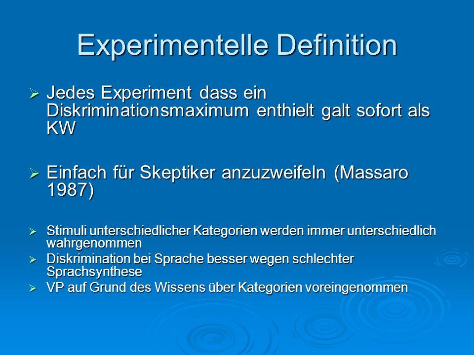 Experimentelle Definition
