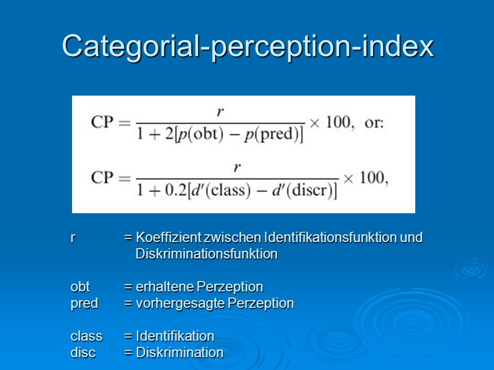 Categorial-perception-index