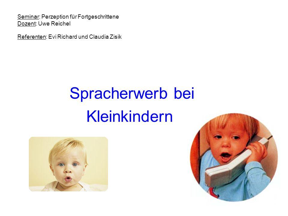 Spracherwerb bei Kleinkindern