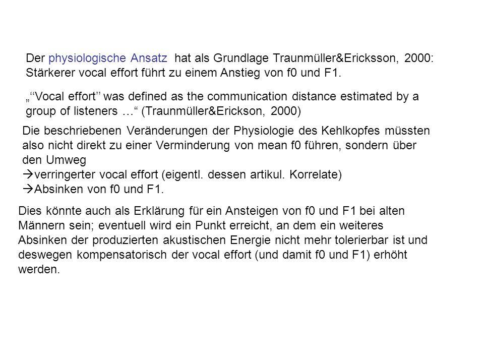 Der physiologische Ansatz hat als Grundlage Traunmüller&Ericksson, 2000: