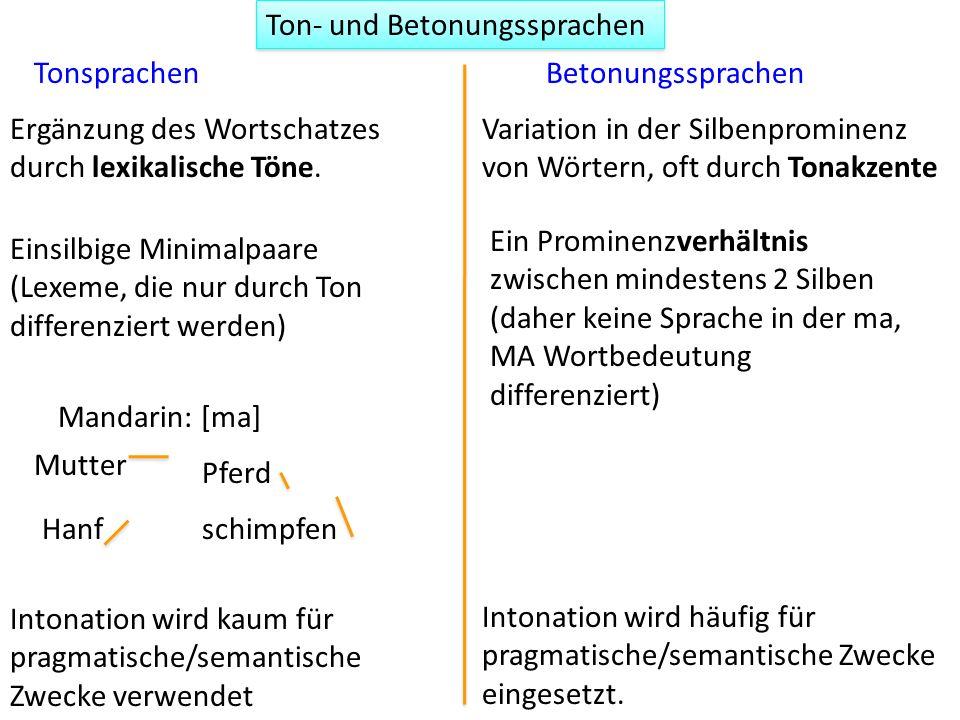 Ton- und Betonungssprachen