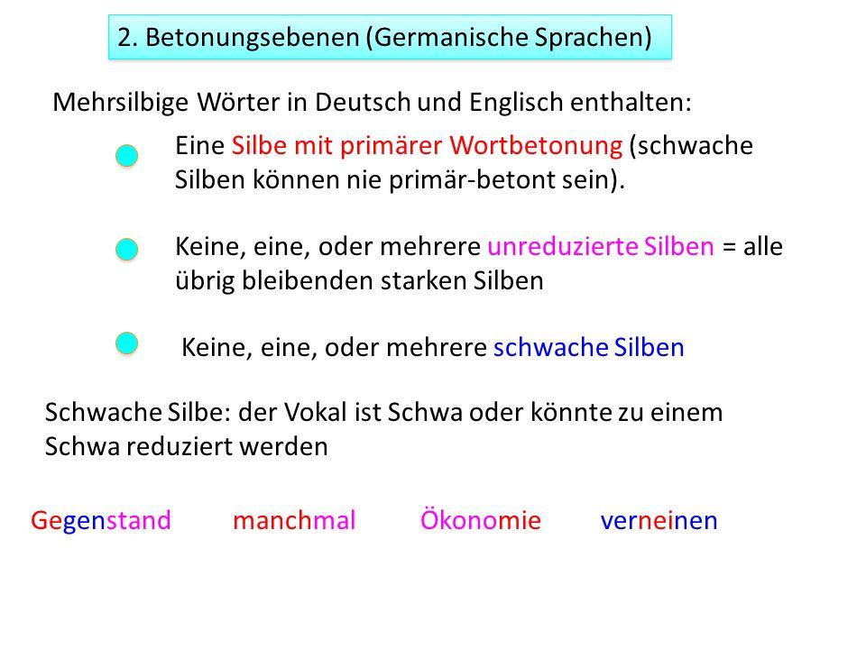 2. Betonungsebenen (Germanische Sprachen)