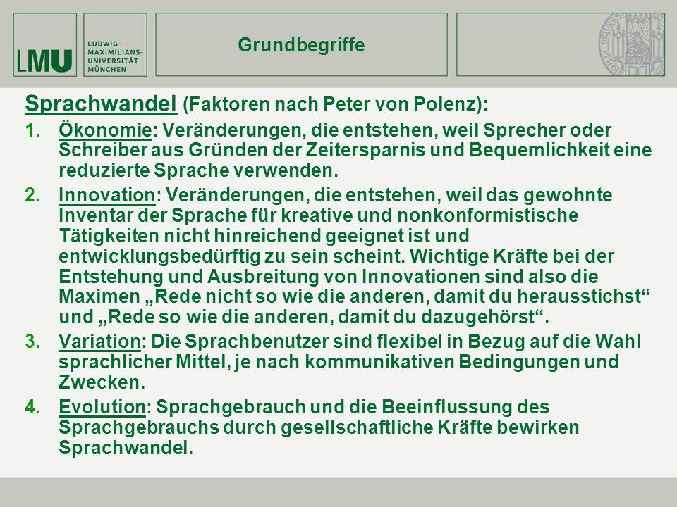 Sprachwandel (Faktoren nach Peter von Polenz):
