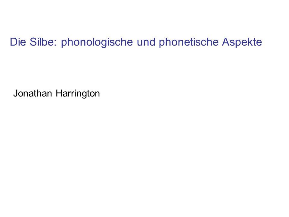 Die Silbe: phonologische und phonetische Aspekte