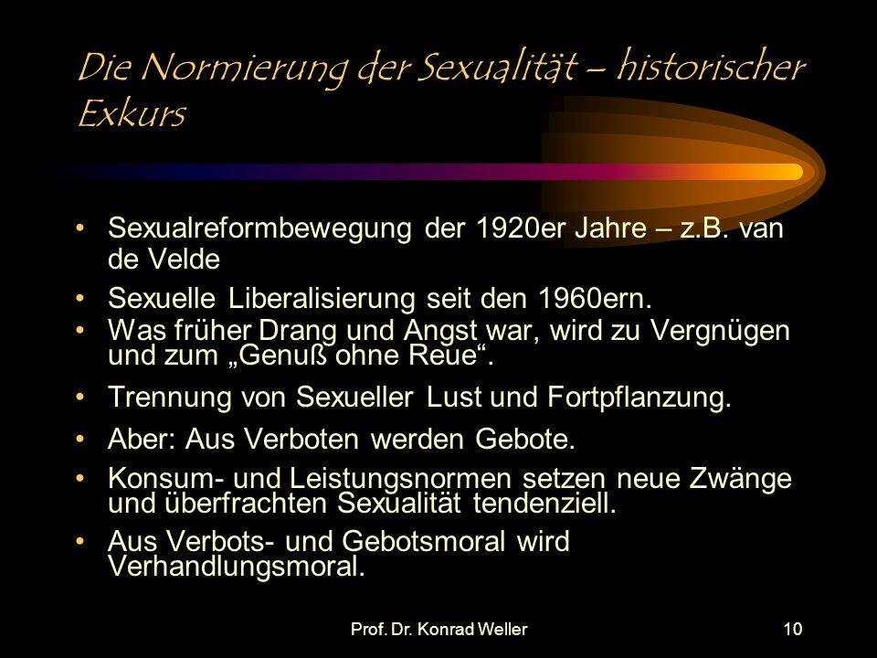 Die Normierung der Sexualität – historischer Exkurs