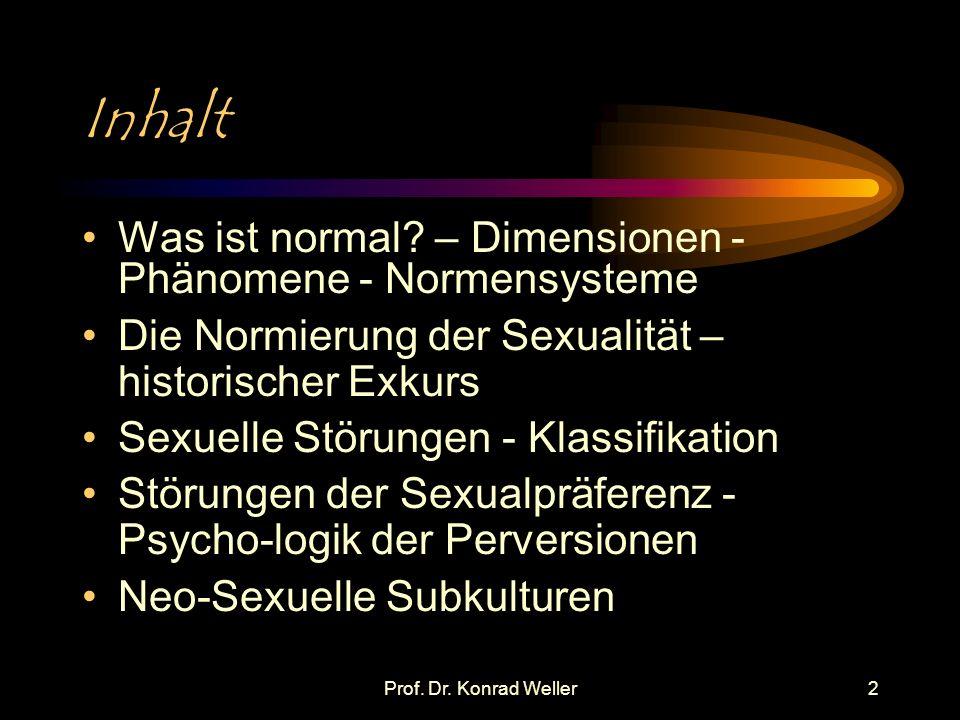 Inhalt Was ist normal – Dimensionen - Phänomene - Normensysteme