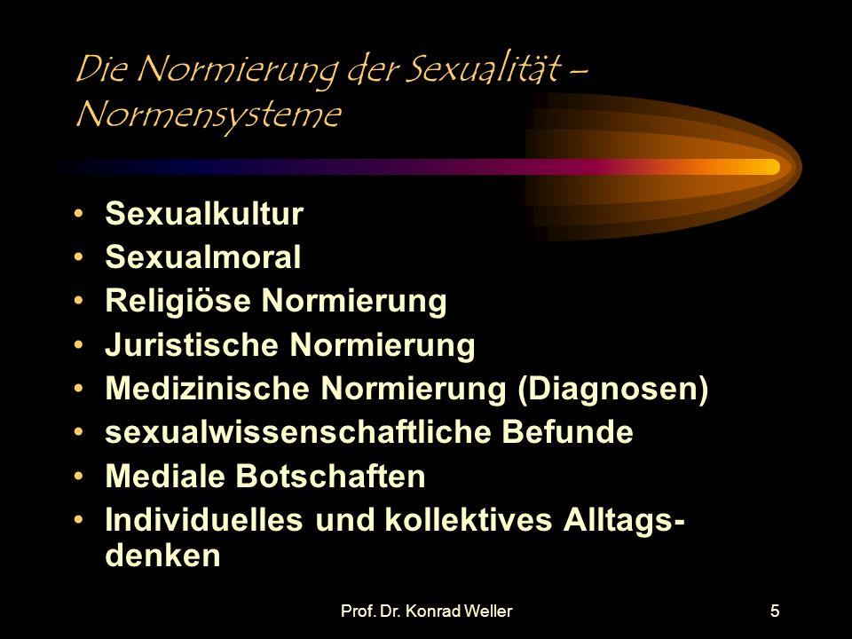 Die Normierung der Sexualität – Normensysteme