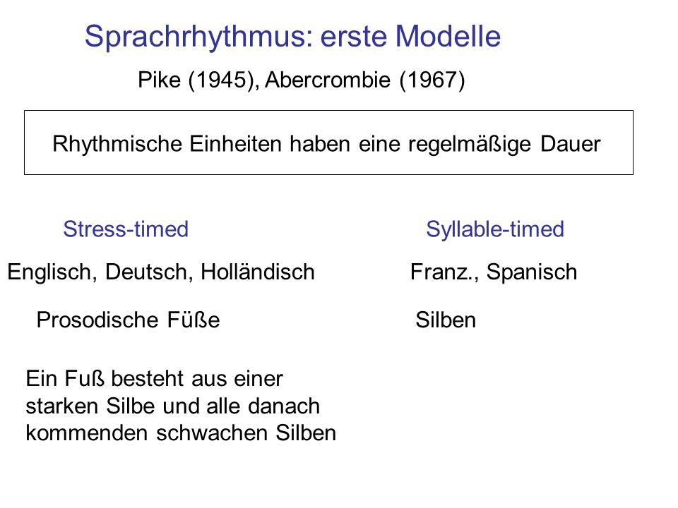 Sprachrhythmus: erste Modelle