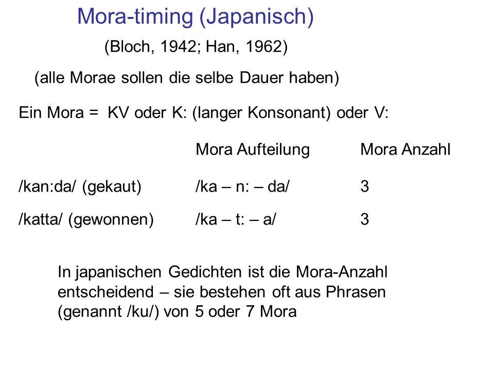 Mora-timing (Japanisch)