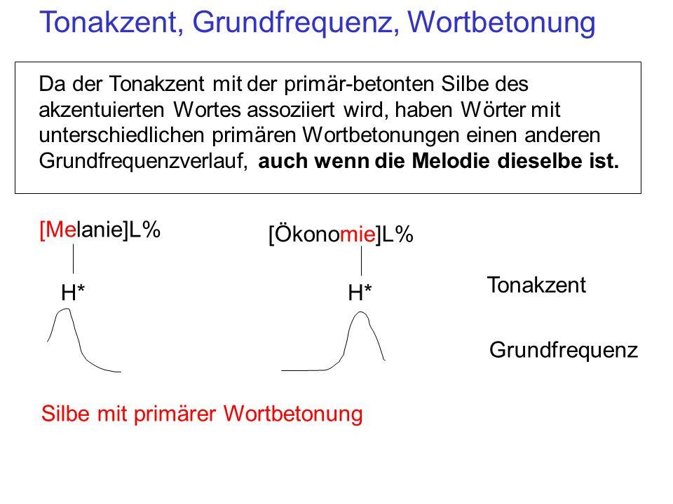 Tonakzent, Grundfrequenz, Wortbetonung