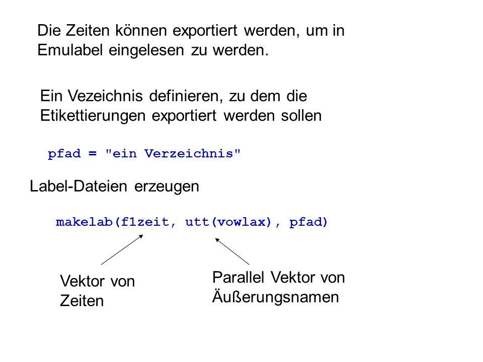 Label-Dateien erzeugen