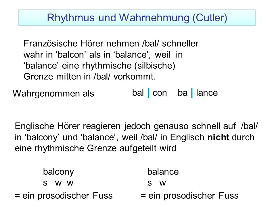 Rhythmus und Wahrnehmung (Cutler)