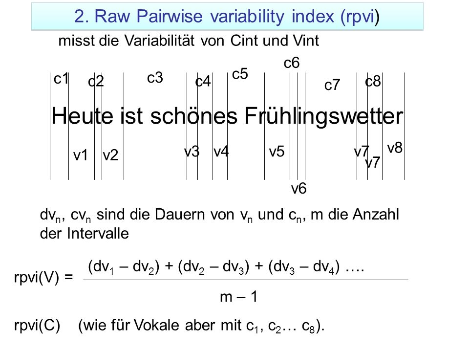 2. Raw Pairwise variability index (rpvi)