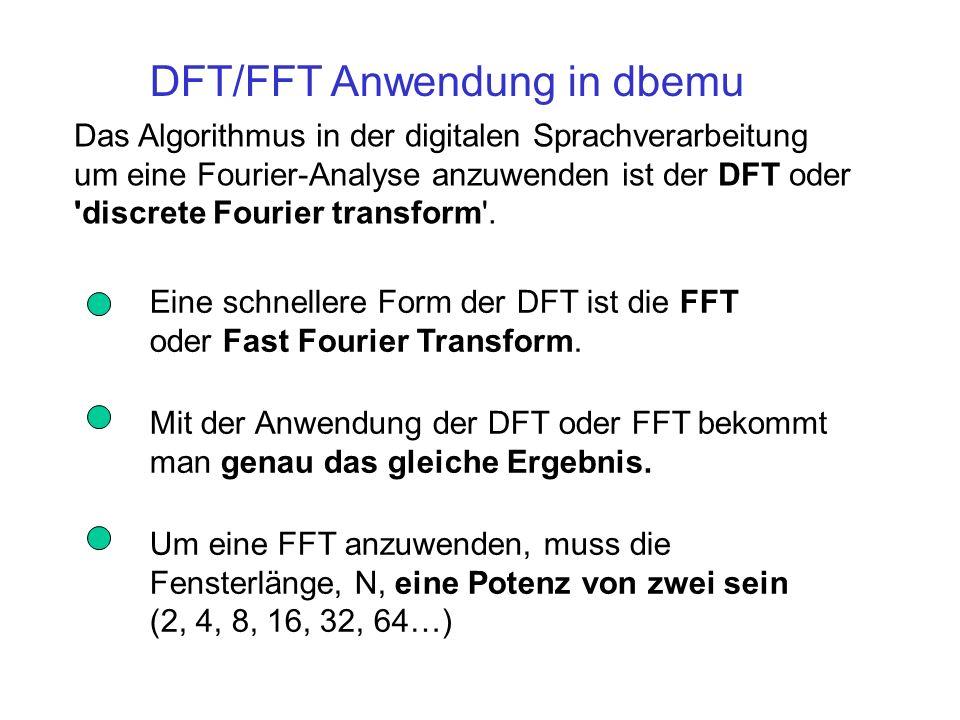 DFT/FFT Anwendung in dbemu