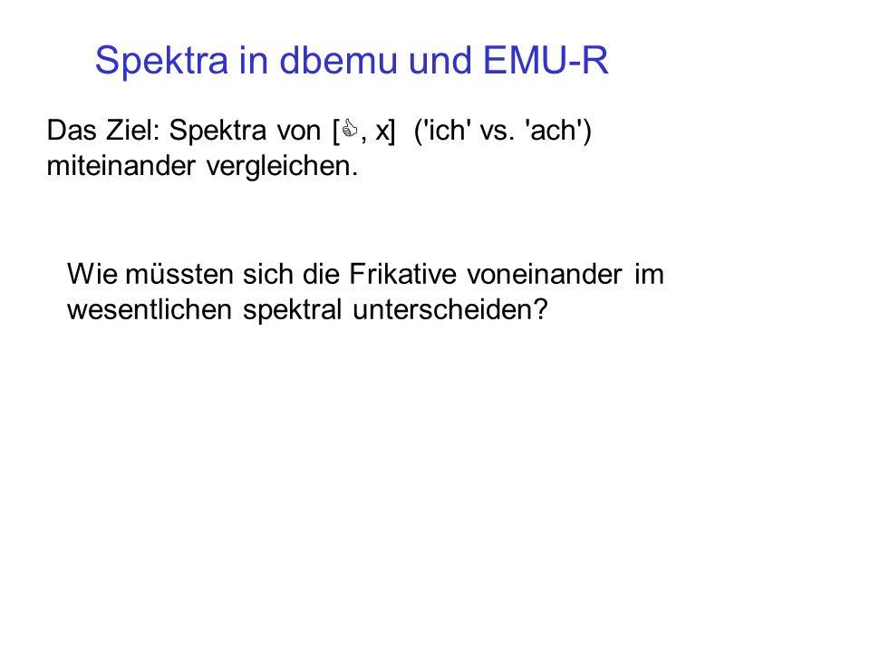Spektra in dbemu und EMU-R