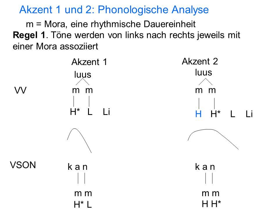 Akzent 1 und 2: Phonologische Analyse