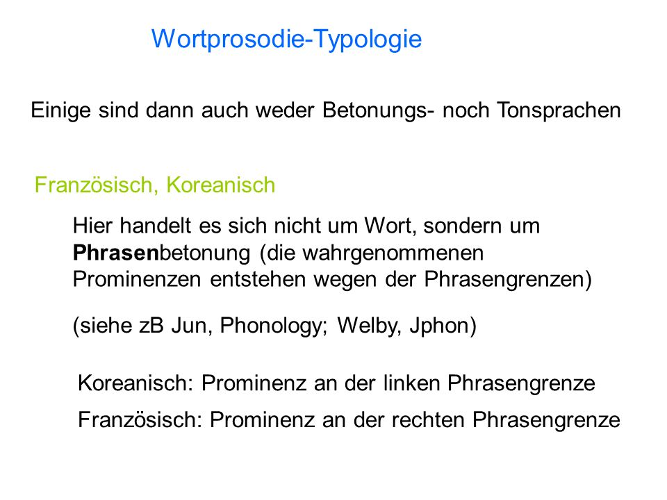 Wortprosodie-Typologie