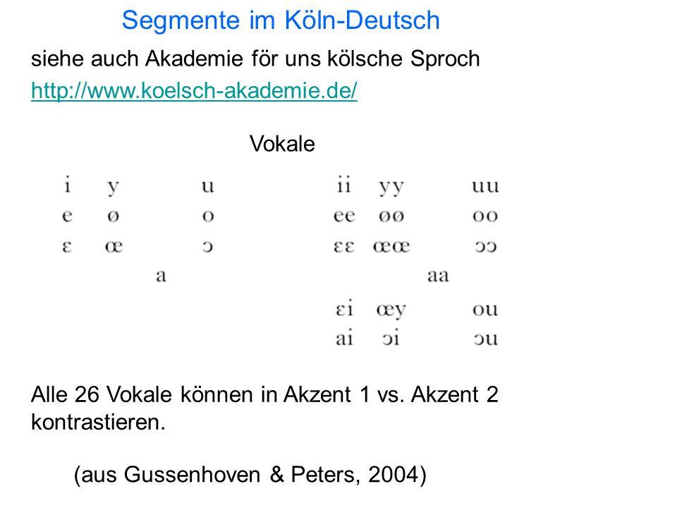 Segmente im Köln-Deutsch