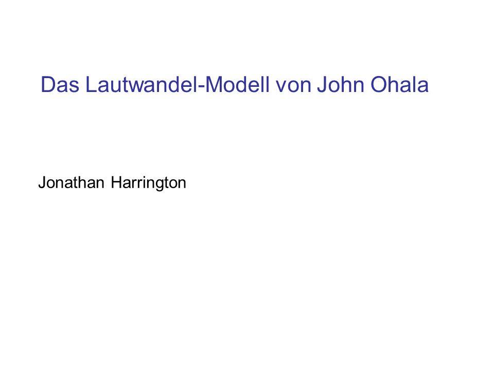Das Lautwandel-Modell von John Ohala