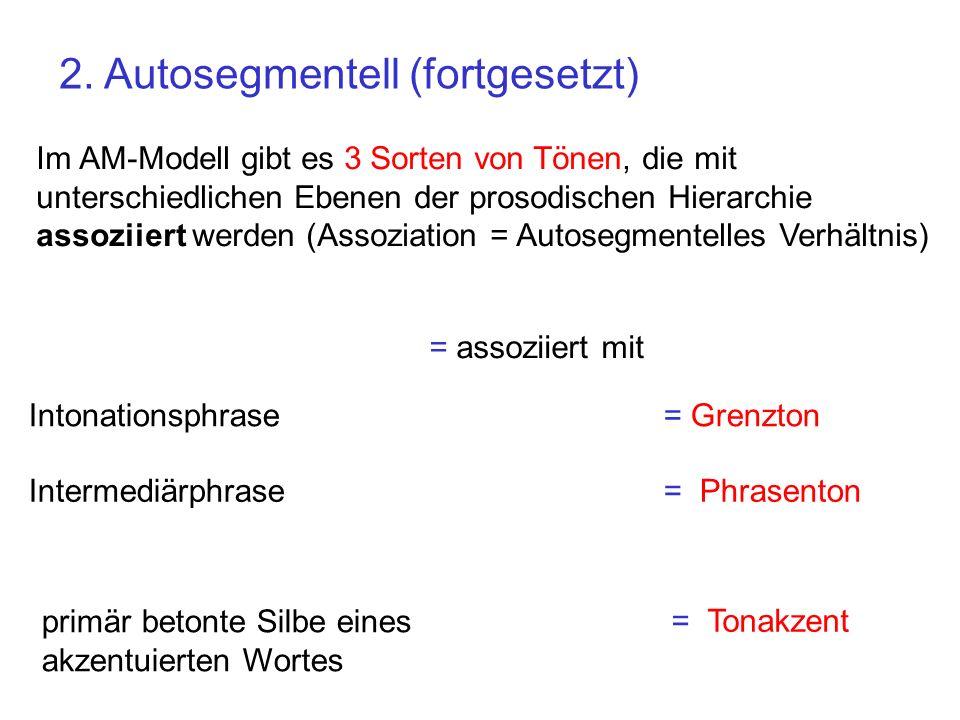 2. Autosegmentell (fortgesetzt)