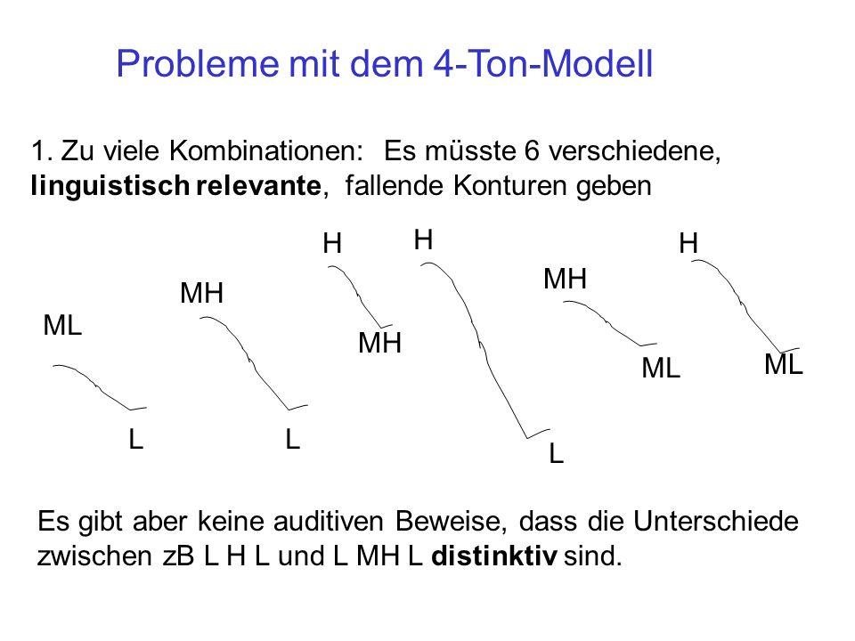 Probleme mit dem 4-Ton-Modell
