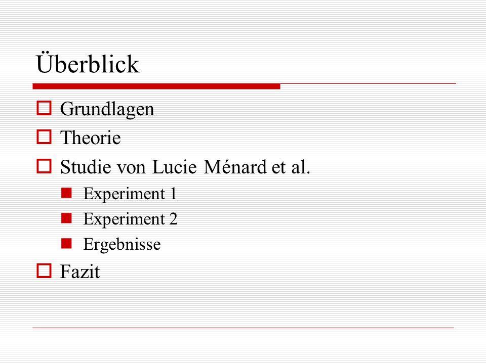 Überblick Grundlagen Theorie Studie von Lucie Ménard et al. Fazit