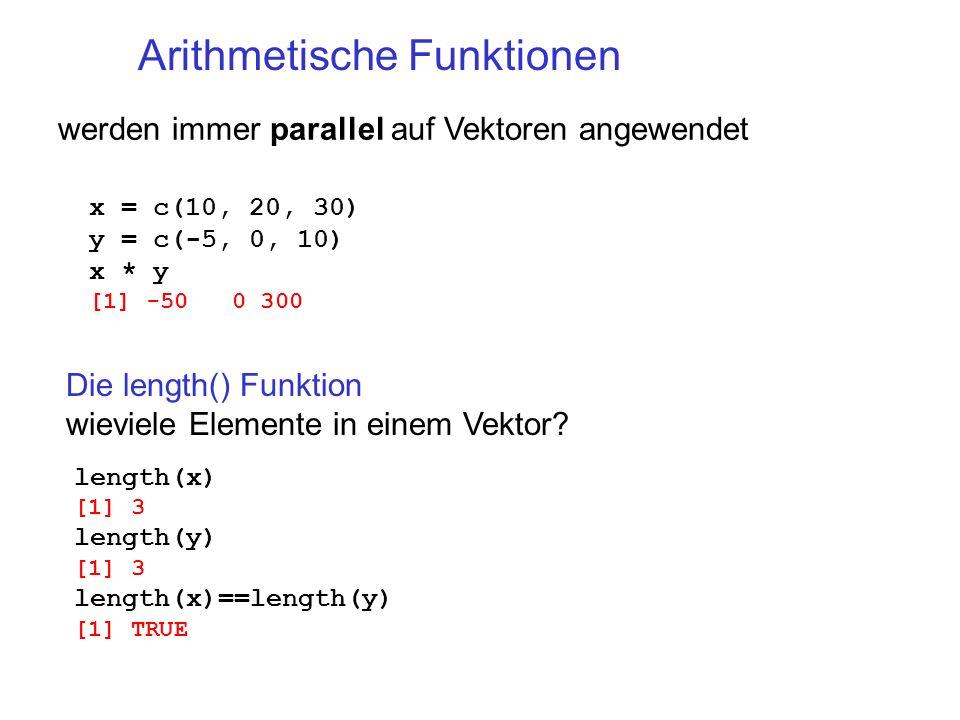 Arithmetische Funktionen