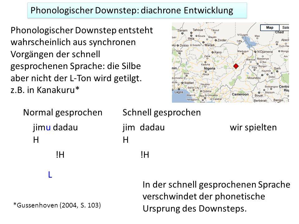 Phonologischer Downstep: diachrone Entwicklung