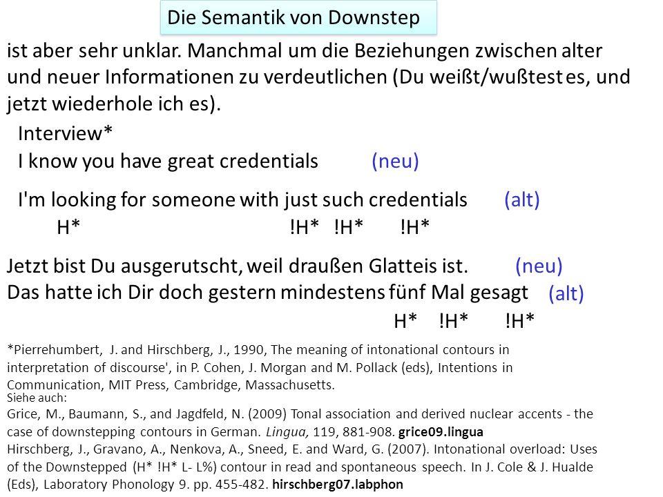 Die Semantik von Downstep