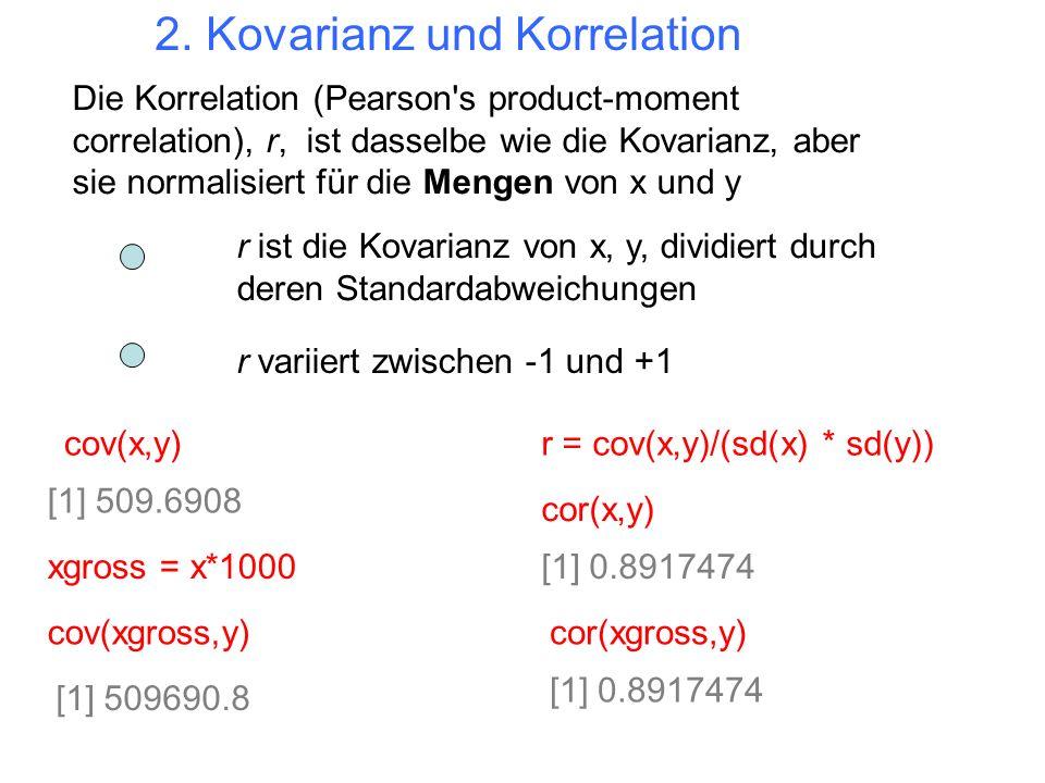2. Kovarianz und Korrelation