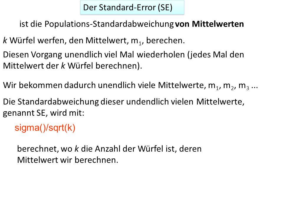 Der Standard-Error (SE)