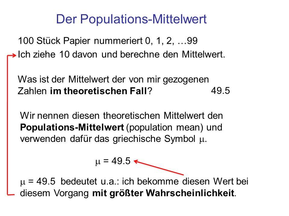 Der Populations-Mittelwert