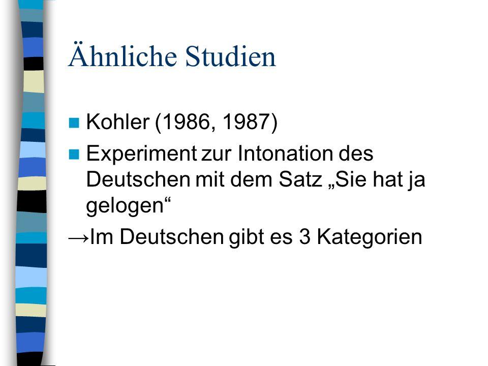 Ähnliche Studien Kohler (1986, 1987)