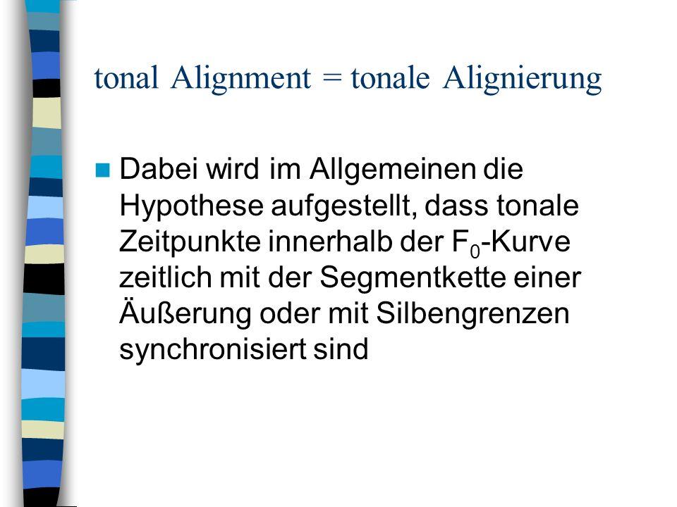 tonal Alignment = tonale Alignierung