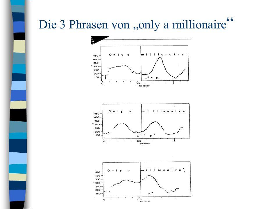 """Die 3 Phrasen von """"only a millionaire"""